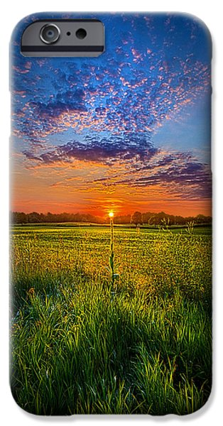 Recently Sold -  - Field. Cloud iPhone Cases - Visions iPhone Case by Phil Koch