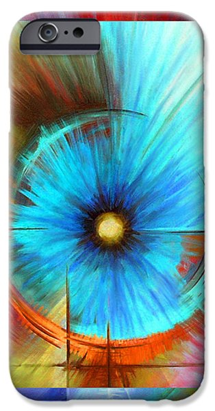 Galactic Paintings iPhone Cases - Vortex iPhone Case by James Christopher Hill