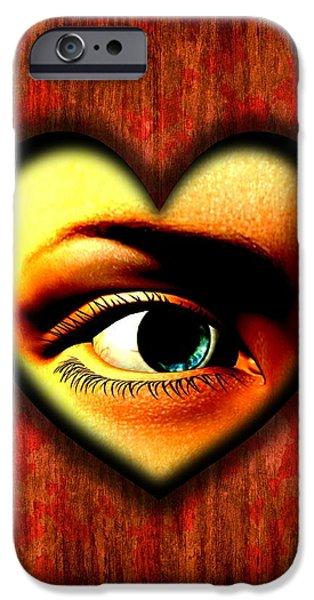 Virtual iPhone Cases - Voyeurism, Conceptual Artwork iPhone Case by Stephen Wood