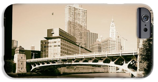 1990s iPhone Cases - Wabash Avenue Bridge - Chicago 1999 iPhone Case by Mountain Dreams