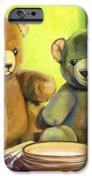 Waiting for Goldilocks iPhone Case by Joose Hadley