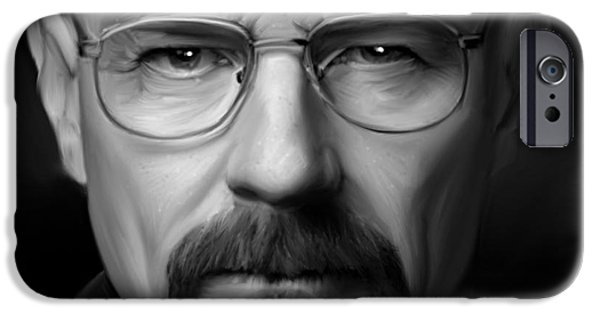 Drama iPhone Cases - Walter White - Color iPhone Case by Paul Tagliamonte