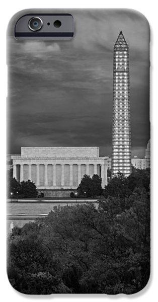 D.c. iPhone Cases - Washington DC Iconic Landmarks iPhone Case by Susan Candelario