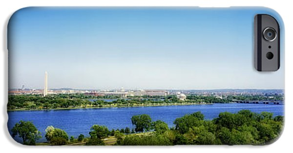 President iPhone Cases - Washington D.C. Panorama iPhone Case by Mountain Dreams