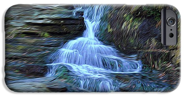 Ledge Mixed Media iPhone Cases - Water In Flow Motion iPhone Case by Douglas Miller