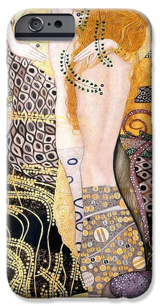 Recently Sold -  - Serpent iPhone Cases - Water Serpents I iPhone Case by Gustav Klimt