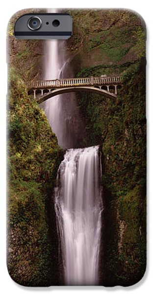 Connection iPhone Cases - Waterfall In A Forest, Multnomah Falls iPhone Case by Panoramic Images