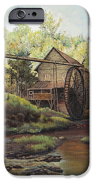 Watermill at Daybreak  iPhone Case by Mary Ellen Anderson