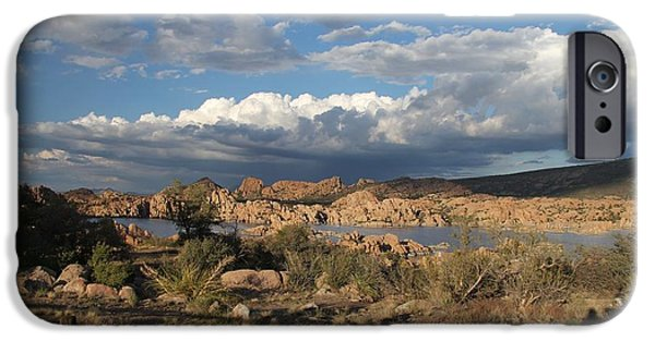 Prescott Arizona iPhone Cases - Watson Lake  iPhone Case by Diane  Greco-Lesser