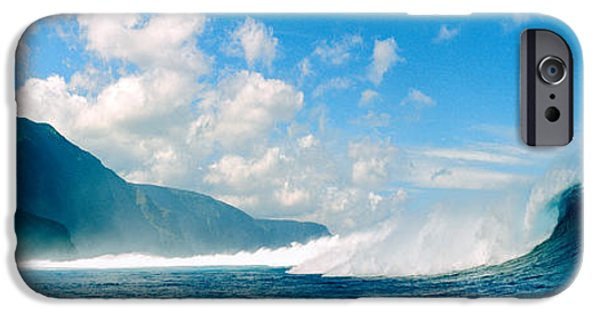 Power iPhone Cases - Waves In The Sea, Molokai, Hawaii iPhone Case by Panoramic Images