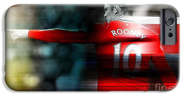 Soccer iPhone Cases - Wayne Rooney iPhone Case by Marvin Blaine