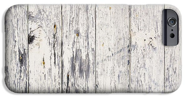Stripe.paint iPhone Cases - Weathered Paint on Wood iPhone Case by Tim Hester