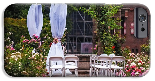 Garden Scene Photographs iPhone Cases - Wedding Arrangement in De Haar Castle. Utrecht iPhone Case by Jenny Rainbow