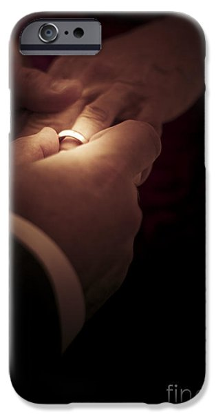 Bridegroom iPhone Cases - Wedding Rings iPhone Case by Ryan Jorgensen