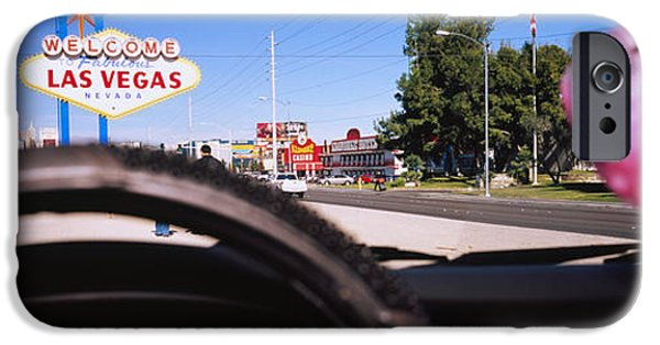 Interior Scene iPhone Cases - Welcome Sign Board At A Road Side iPhone Case by Panoramic Images