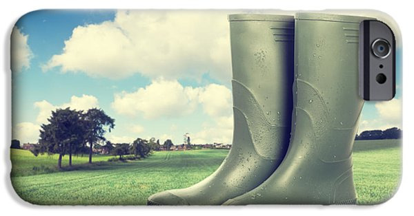 Boots iPhone Cases - Wellington Boots iPhone Case by Amanda And Christopher Elwell