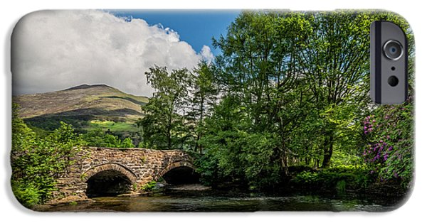 River iPhone Cases - Welsh Landscape iPhone Case by Adrian Evans