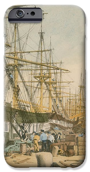 West India Docks from the South East iPhone Case by William Parrot