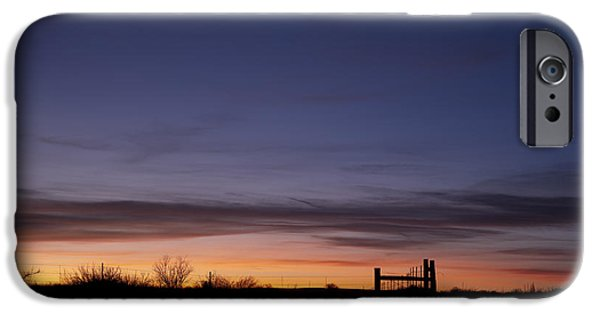 Dry Lake iPhone Cases - West Texas Sunset iPhone Case by Melany Sarafis