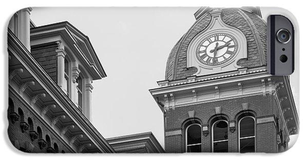 Land-grant iPhone Cases - West Viriginia University Clock Tower iPhone Case by University Icons