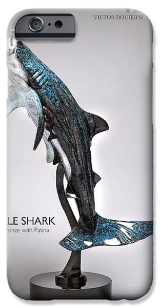 Shark Sculptures iPhone Cases - Whale Shark iPhone Case by Victor Douieb