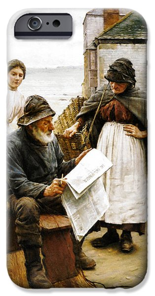 When the Boats are Away iPhone Case by Walter Langley