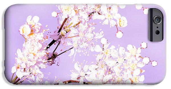 Copy Mixed Media iPhone Cases - White flowers  iPhone Case by Toppart Sweden