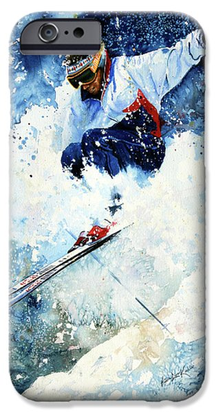 Skiing iPhone Cases - White Magic iPhone Case by Hanne Lore Koehler
