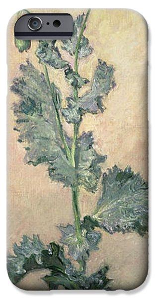 White Poppy iPhone Case by Claude Monet