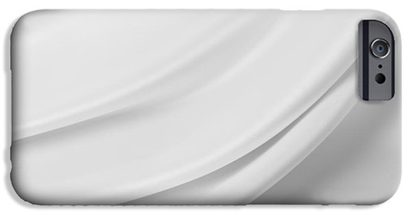 Sheets iPhone Cases - White silk iPhone Case by Les Cunliffe