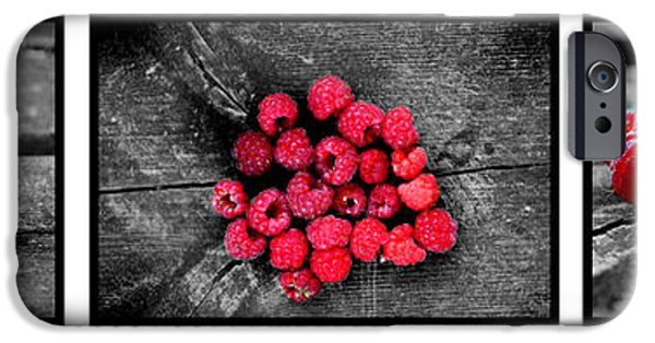 Berry iPhone Cases - Wild strawberries on straw iPhone Case by Toppart Sweden