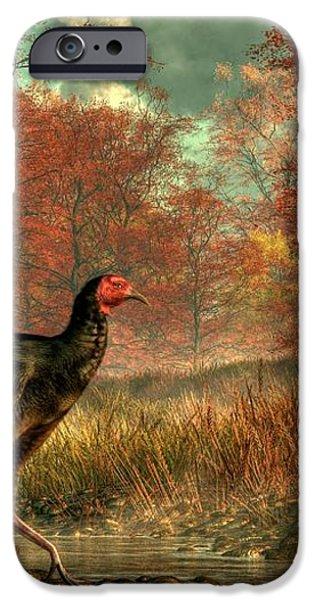 Wild Turkey iPhone Case by Daniel Eskridge