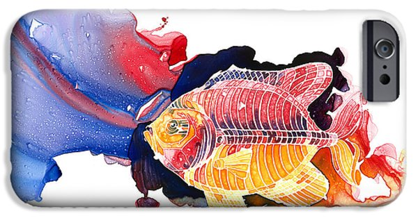 Loose Style Paintings iPhone Cases - Wild Water iPhone Case by Mike Lawrence