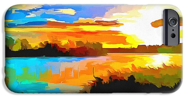 Milton Keynes iPhone Cases - Willen Sunrise iPhone Case by Hoetmer Art