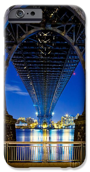 Hudson River iPhone Cases - Williamsburg Bridge 3 iPhone Case by Az Jackson