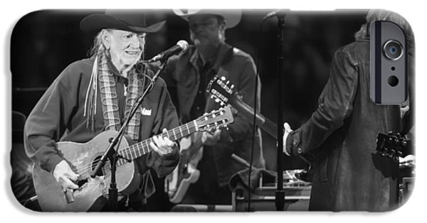 Bands On Stage iPhone Cases - Willie Nelson - Live in Austin iPhone Case by Mountain Dreams