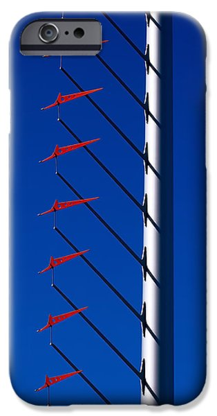 San Francisco iPhone Cases - Wind Arrows iPhone Case by Rona Black