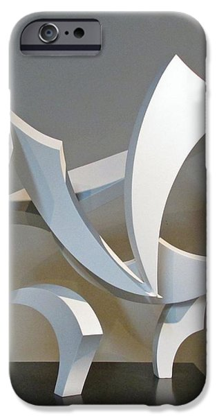 Stainless Steel Sculptures iPhone Cases - Wind iPhone Case by John Neumann