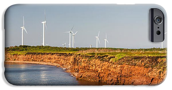 Industry iPhone Cases - Wind turbines on atlantic coast iPhone Case by Elena Elisseeva