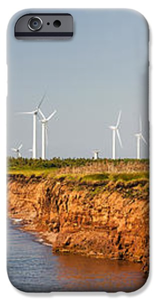 Wind turbines on atlantic coast iPhone Case by Elena Elisseeva