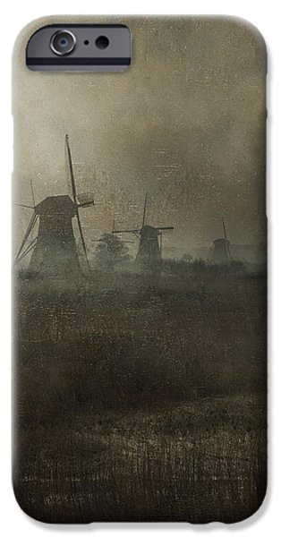 Morning iPhone Cases - Windmills iPhone Case by Joana Kruse