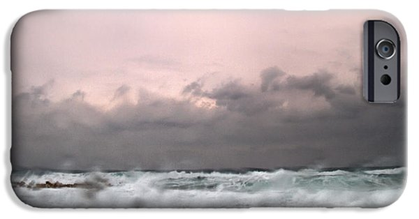 Abstract Rain iPhone Cases - Window Sea Storm  iPhone Case by Stylianos Kleanthous