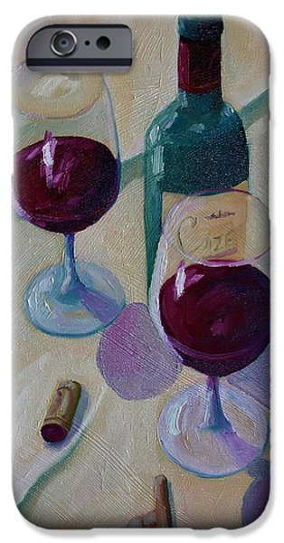 Vineyard Prints iPhone Cases - Wine Bottle Still Life  iPhone Case by Todd Bandy