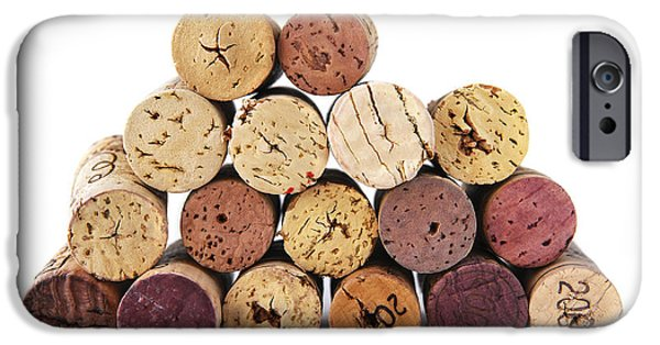 Mounds iPhone Cases - Wine corks iPhone Case by Elena Elisseeva