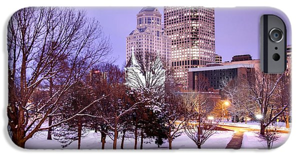 Recently Sold -  - New England Snow Scene iPhone Cases - Winter in Hartford iPhone Case by Denis Tangney Jr
