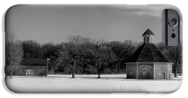 Indiana Landscapes iPhone Cases - Winter Indiana Farm iPhone Case by Mountain Dreams