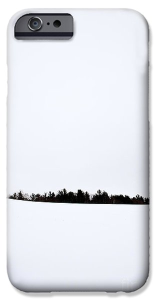 Snow-covered Landscape Photographs iPhone Cases - Winter Minimalism iPhone Case by Edward Fielding