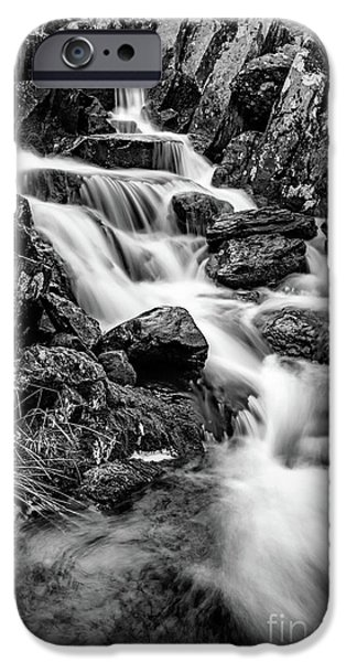 Stream Digital Art iPhone Cases - Winter Rapids iPhone Case by Adrian Evans