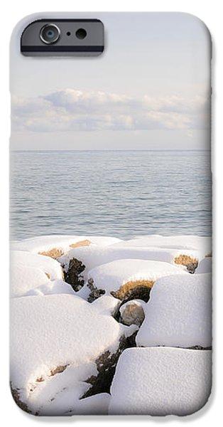 Winter shore of lake Ontario iPhone Case by Elena Elisseeva