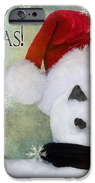Winter Snowman iPhone Case by Cindy Singleton